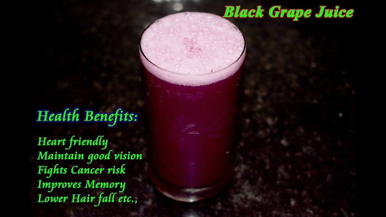 Black Grape Juice Recipe With Tip How To Make Black Grape Juice Recipe Black Grape Juice With Milk Youtube