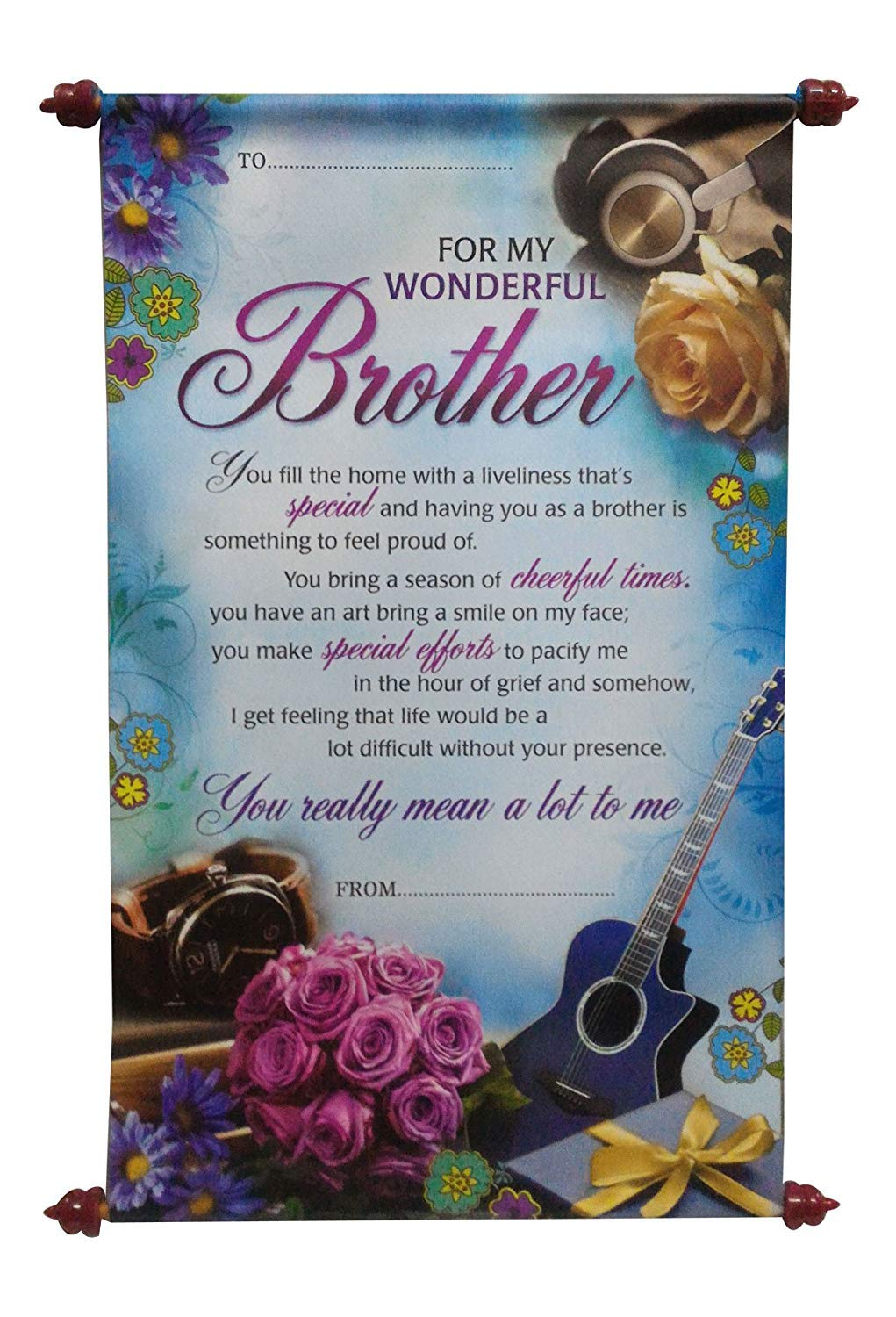 Saugat Traders Birthday Gift For Brother Handmade Birthday Box With 2 Dairy Milk Chocolates Scroll Card With Mens Leather Wallet Amazon In Grocery Gourmet Foods