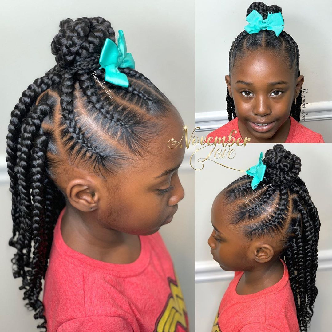 November Love On Instagram Book Large Feed Ins With Box Braids Feedinbraids Kidsfeed In 2020 Natural Hairstyles For Kids Kids Hairstyles Little Girl Braid Styles
